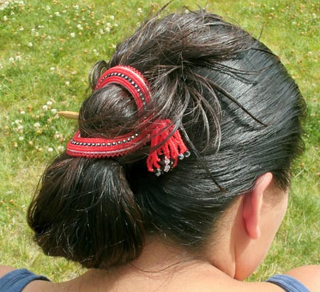 Beaded Barrette And Hair Stick