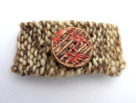 Knitted Button Barrette