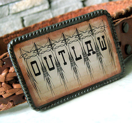 Outlaw Belt Buckle