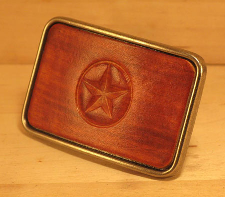 Leather Star Belt Buckle