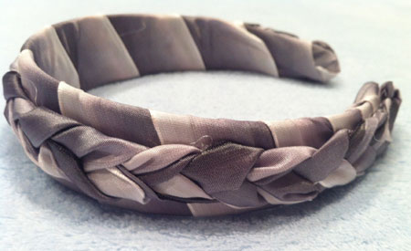 Grayscale Shades of Silver Braided Ribbon Headband
