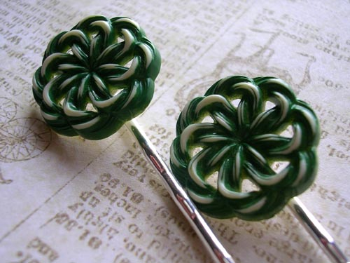Spearmint Bobby Pins