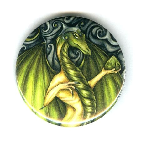 Colored Pencil Dragon Pinback Button