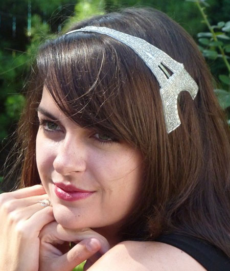 Silvertone Eiffel Tower Headband