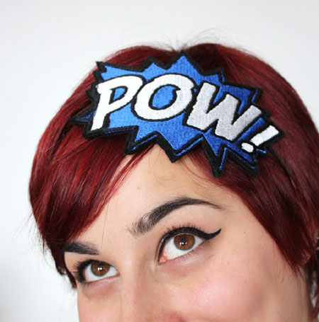Comic Book Pow Headband
