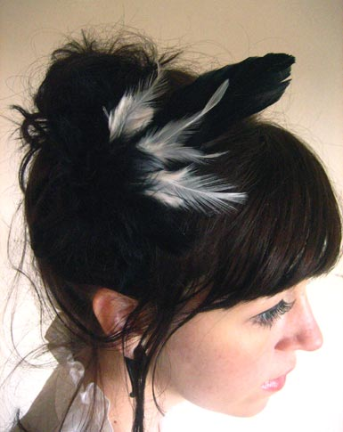 Flapper Feather Barrette