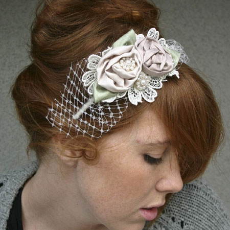 Rolled Roses Hairband
