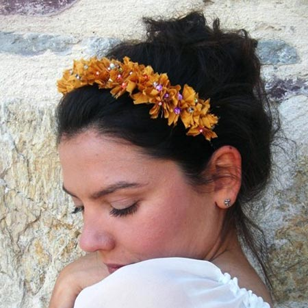 Handmade Jersey Flowers Hairband