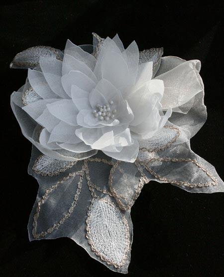 Fabric Lily Corsage