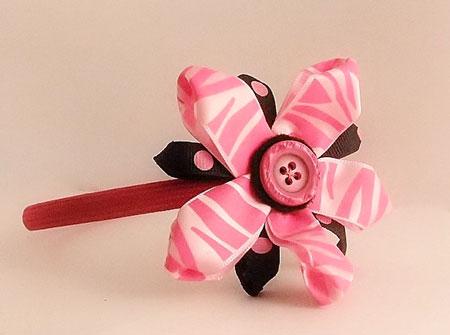 Pink Pinwheel Shape Headband