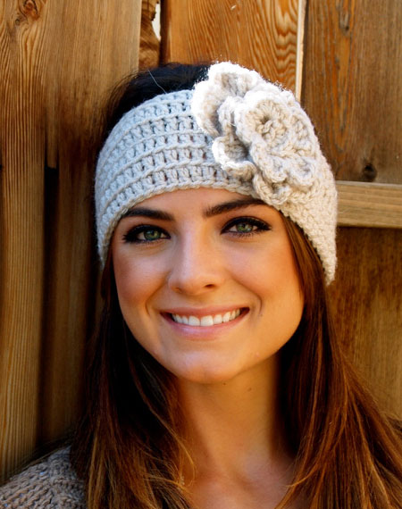 Crocheted Flower Headband Arts Crafts And Design Finds