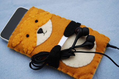 Red Fox Felt iPhone Case