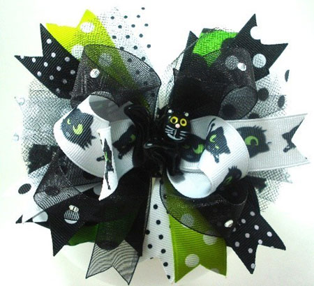 Black Kitty Hair Bow