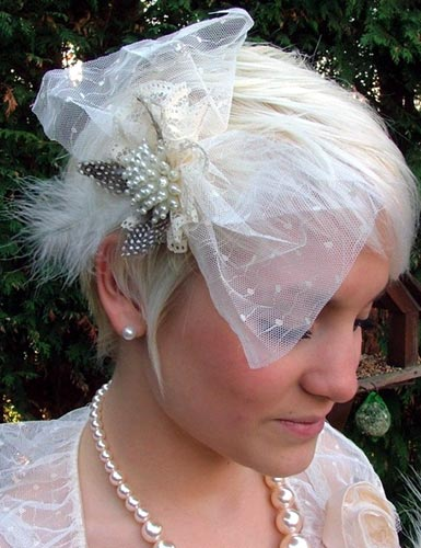 Lace & Pearl Hair Brooch