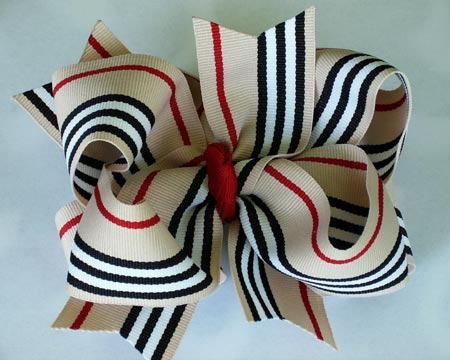 Striped Hair Bow