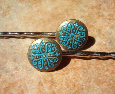 Scrollwork Bobby Pins