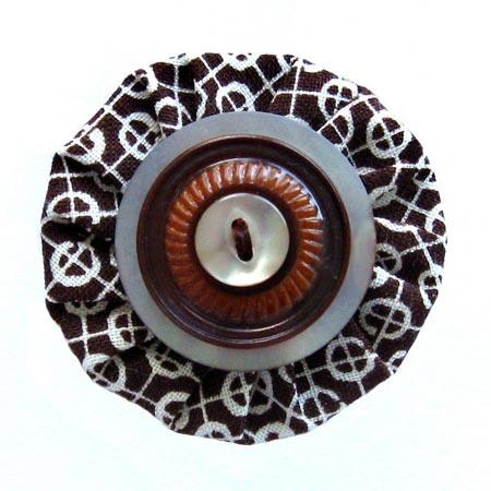 Vintage Button Hair Clip