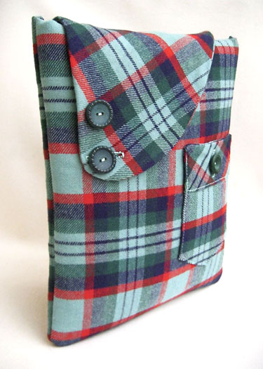 Upcycled Plaid Wool Ipad Sleeve