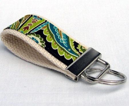 Boho Pistachio Fabric Key Fob