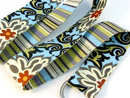 Floral and Stripes Reversible Belt