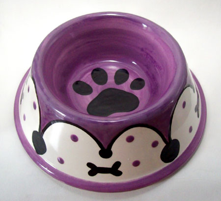 Hand Painted Dog Dish
