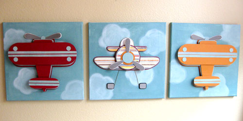 Three Dimensional Airplane Wall Art