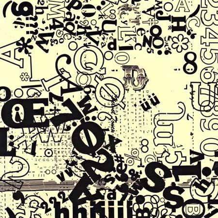 Alphabet Soup Font Print