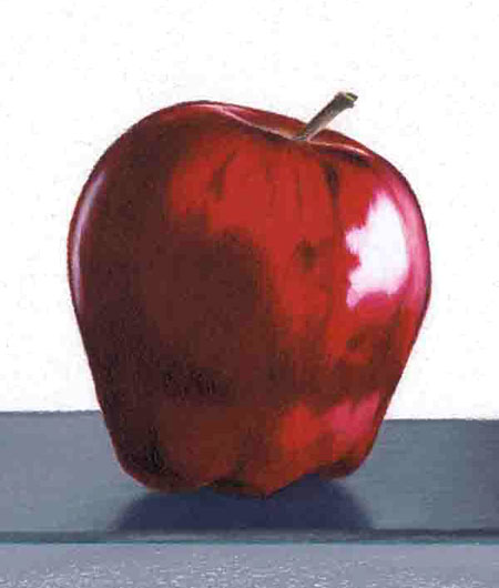 Colored Pencil Apple Art