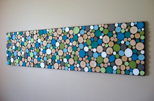 Painted Wood Slices Wall Art