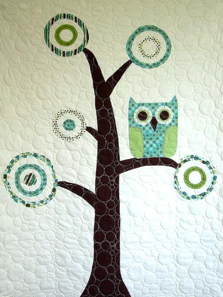 Owl On Tree Crib Quilt