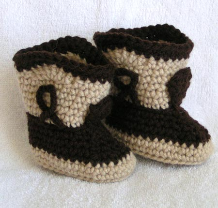Jaden Knitted Baby Boots by Julie Taylor | Knitting Pattern