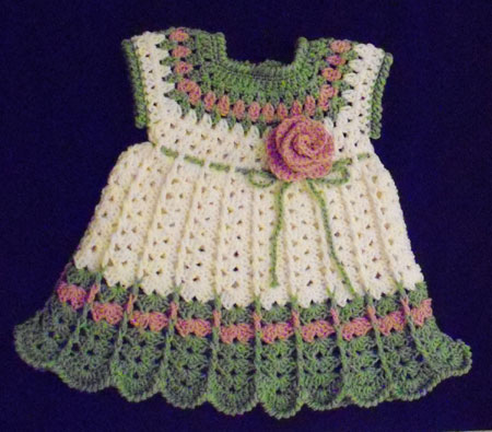 Free Dress Patterns on Crochet Baby Dress   Arts  Crafts And Design Finds