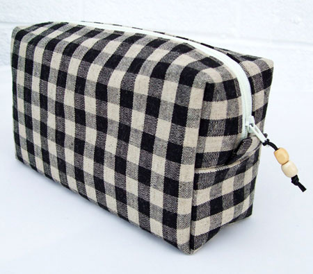 Black & White Gingham Box Purse
