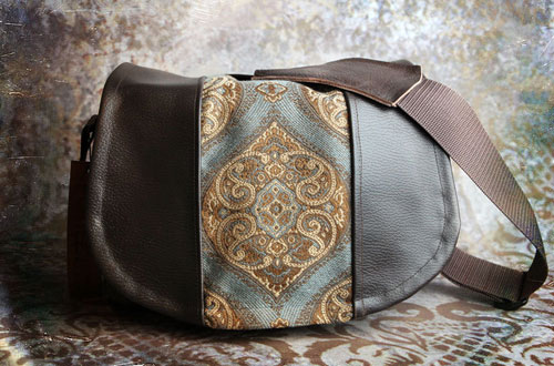 Tapestry & Leather Camera Bag