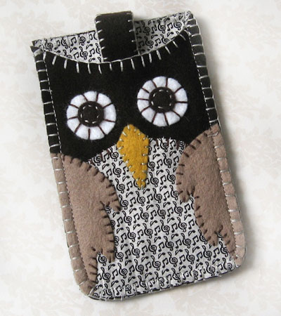 Embroidered Owl iPhone Case