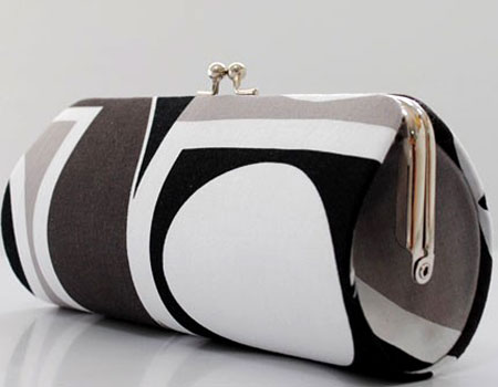 Black and White Geometric Purse
