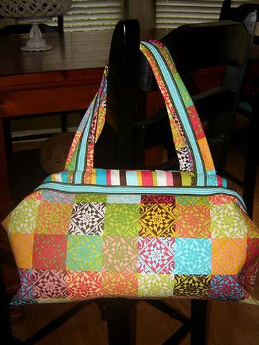 Colorful Metal Lined Handbag