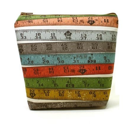 Measuring Tape Cosmetics Bag