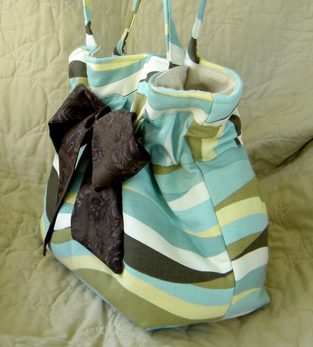 Spa Blue and Chocolate Diaper Bag