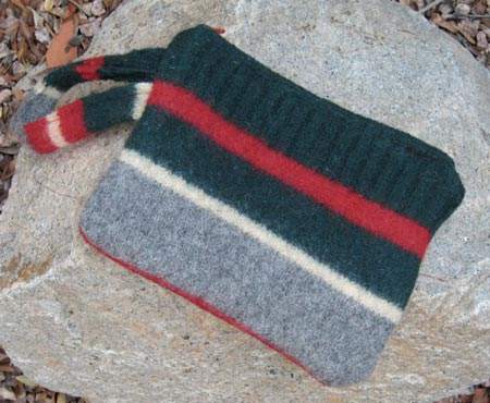 Striped Sweater Wristlet