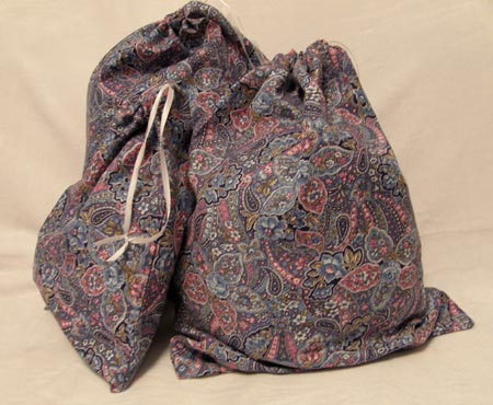 Paisly Fabric Gift Bags