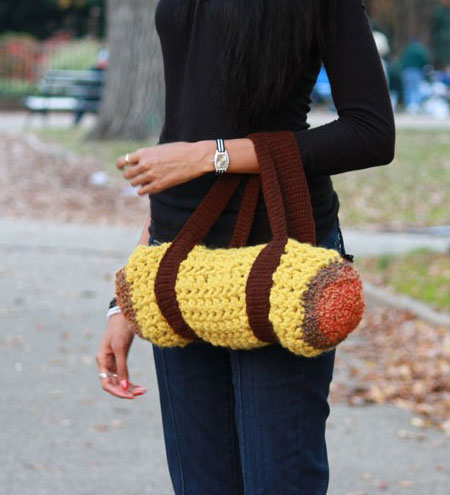 Crochet Mini Duffel Bag