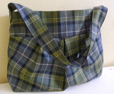 Pleated Tartan Plaid Bag