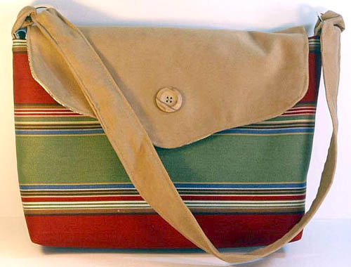 Ultrasuede Striped Handbag