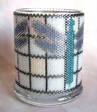 Peyote-Stitched Beadwoven Candle Holder