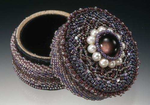 Beadwoven Jewelry Box