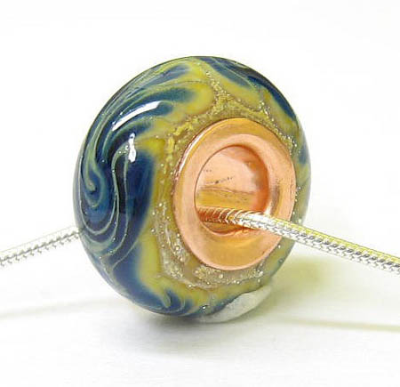 Copper Lined Lampwork Bead