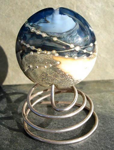 Lampwork Planet Focal Bead