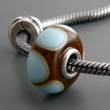 Silver Core Moretti Glass Bead