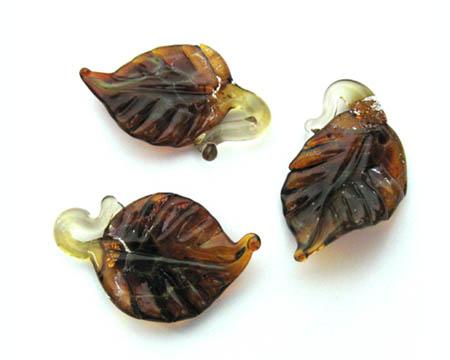 Lampwork Leaf Beads